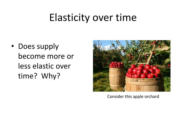 Elasticity over time