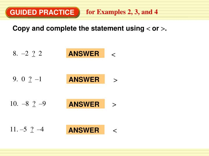for Examples 2, 3, and 4
