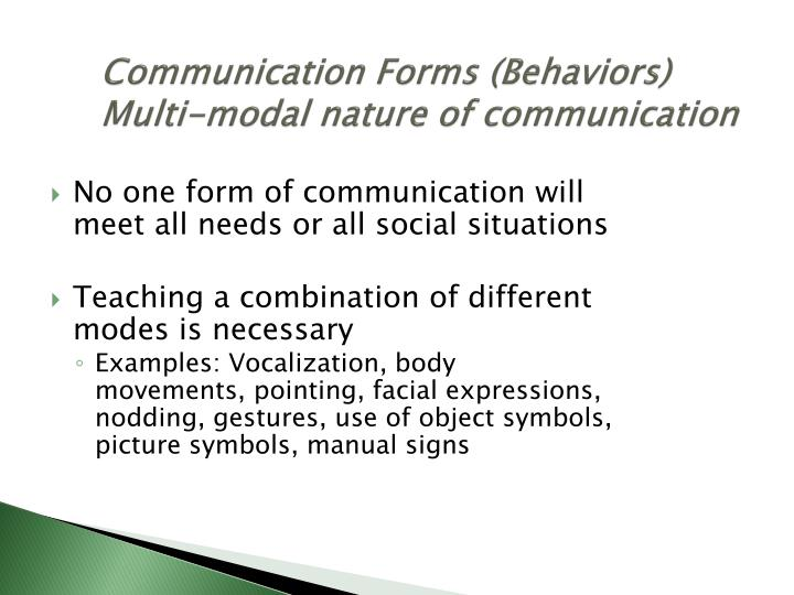 Communication Forms (Behaviors)