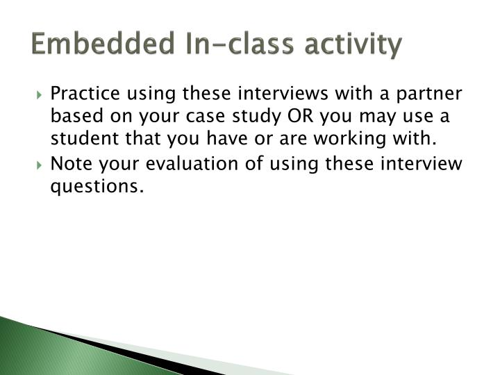 Embedded In-class activity