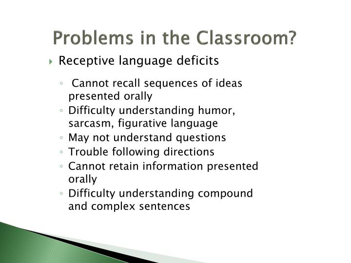 Problems in the Classroom?