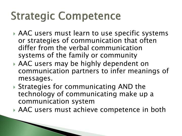 Strategic Competence