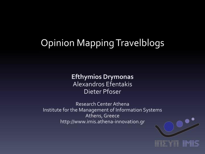 opinion mapping travelblogs