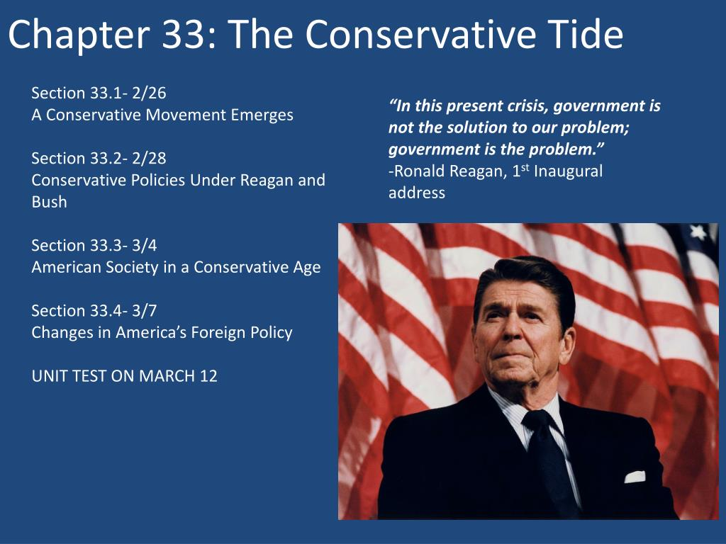 chapter 33 the conservative tide n.