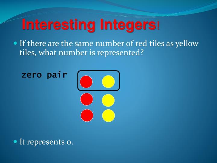Interesting Integers