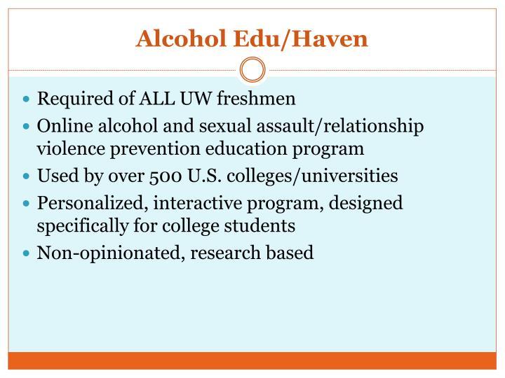 Alcohol Edu/Haven