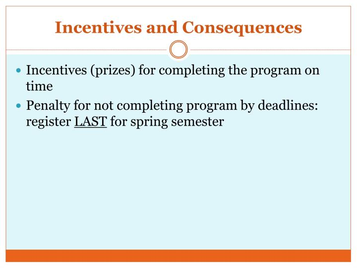 Incentives and Consequences