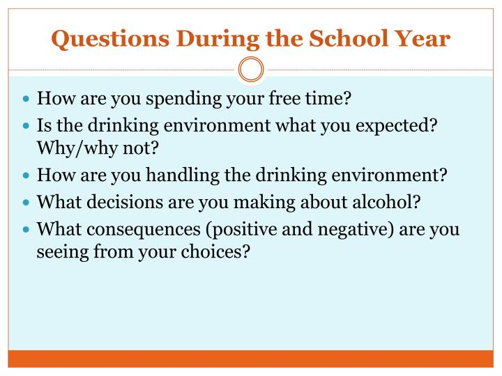 Questions During the School Year