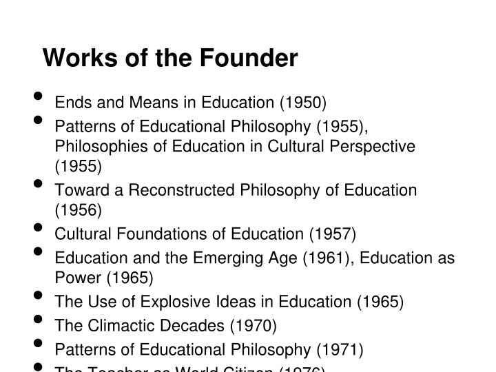 Works of the founder