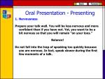 oral presentation presenting
