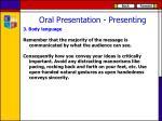 oral presentation presenting2