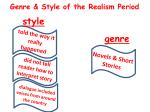 genre style of the realism period
