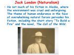 jack london naturalism