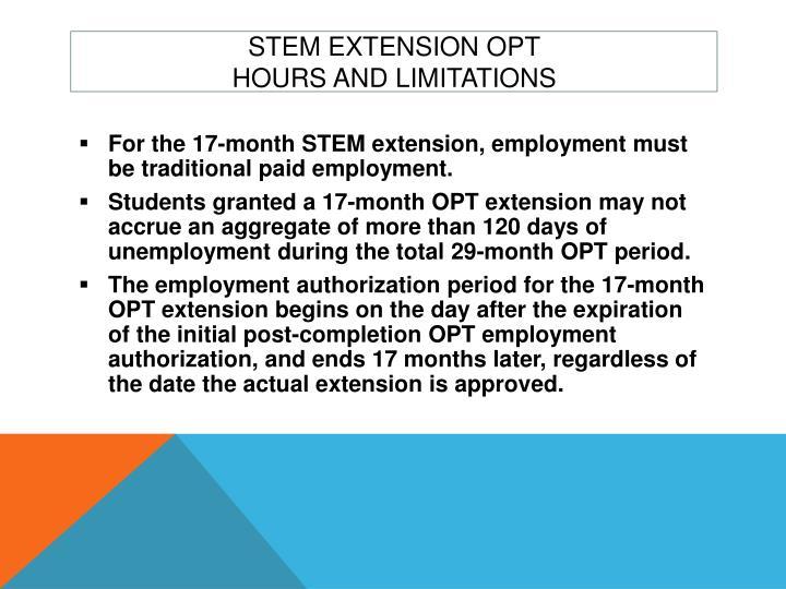 STEM Extension OPT