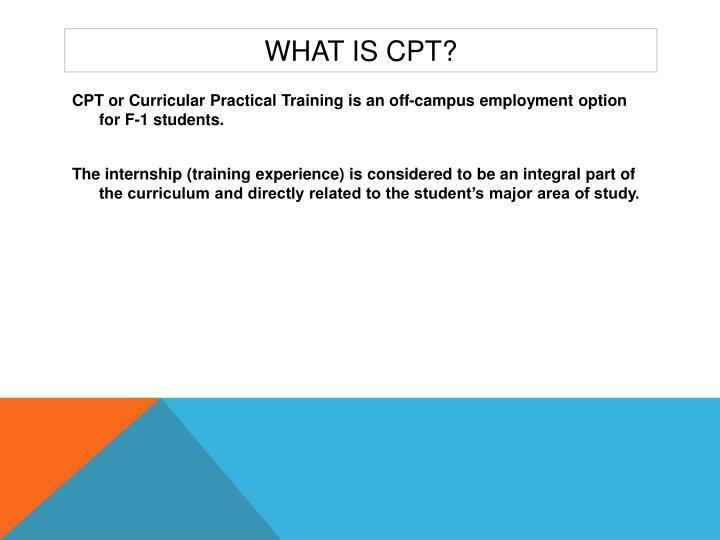 What is cpt