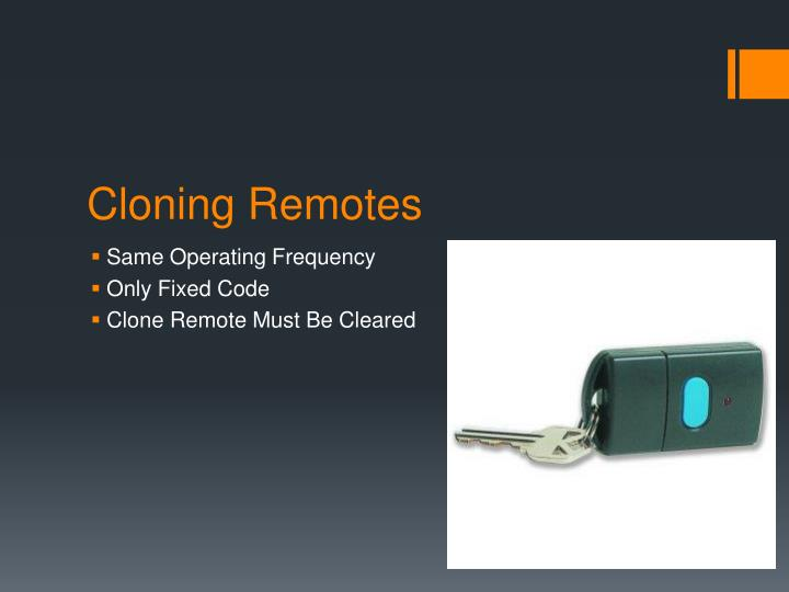 Cloning Remotes