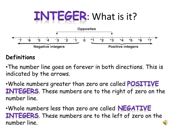 Integer what is it1