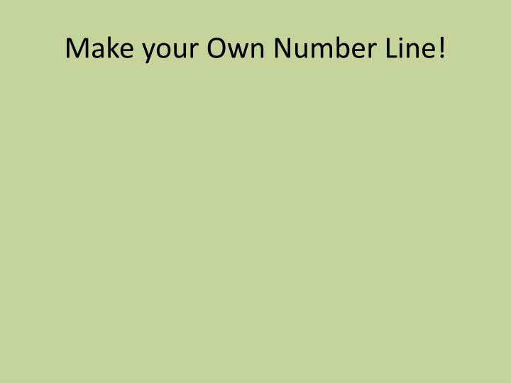 Make your own number line