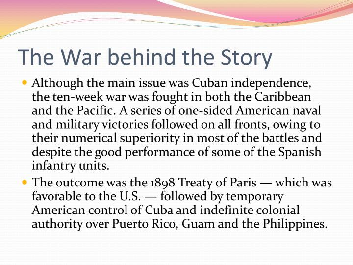 The War behind the Story