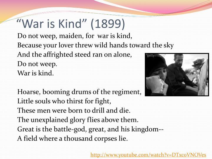 """""""War is Kind"""" (1899)"""