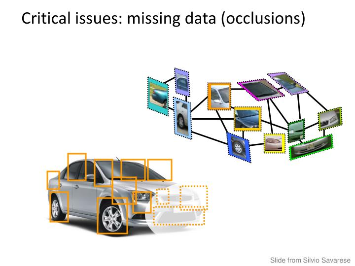 Critical issues: missing data (occlusions)