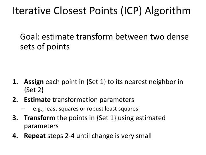 Iterative Closest Points (ICP) Algorithm
