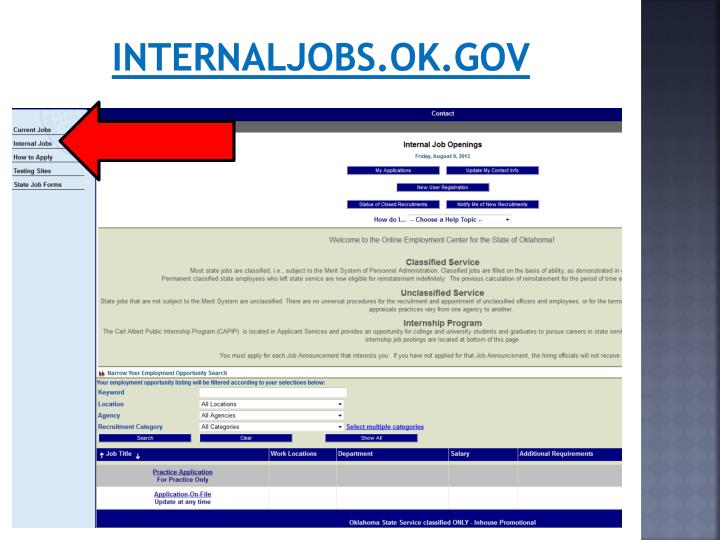 Internaljobs.ok.gov