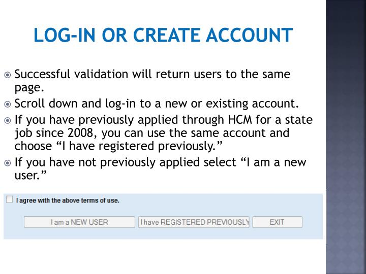 Log-in or create account