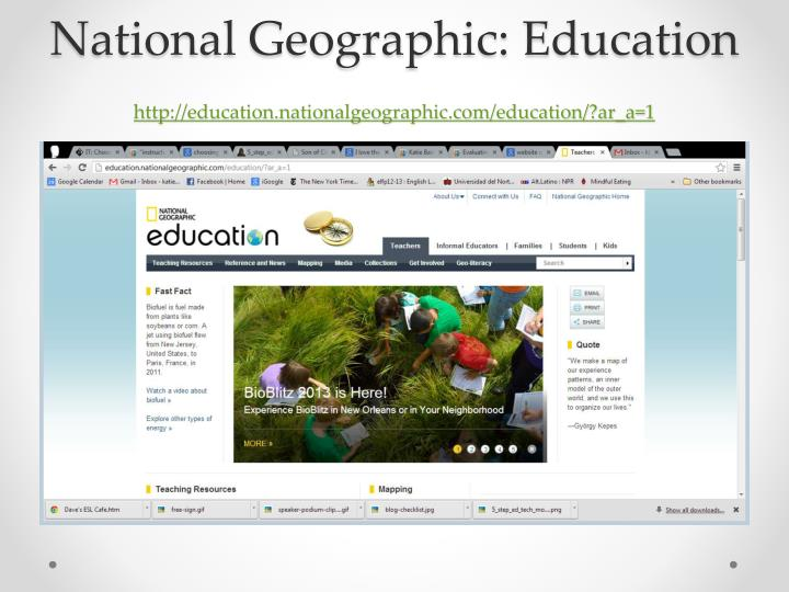 National Geographic: Education