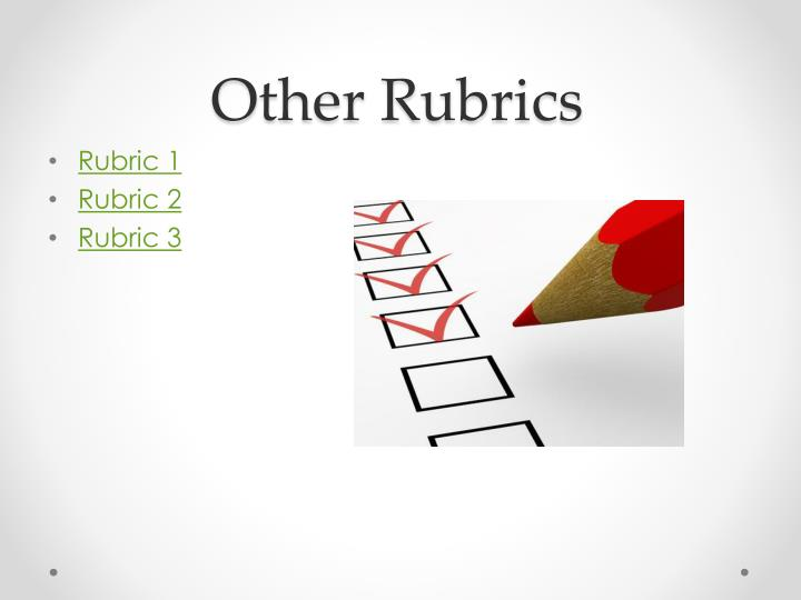 Other Rubrics