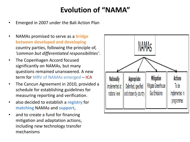 Evolution of nama