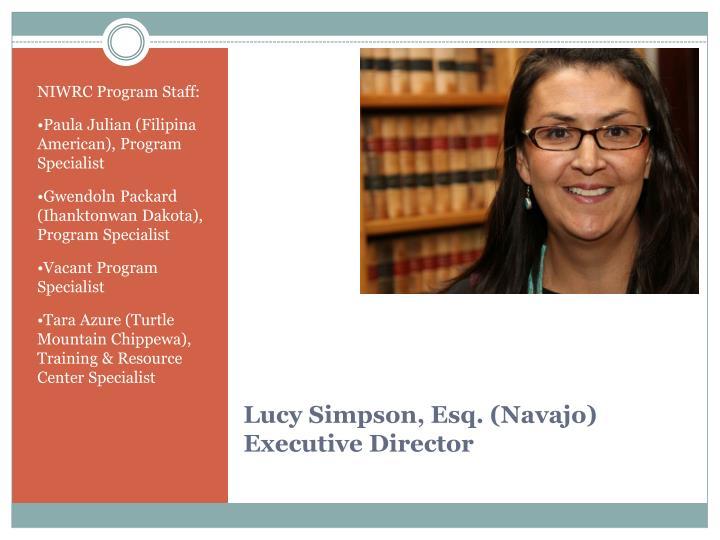 NIWRC Program Staff:
