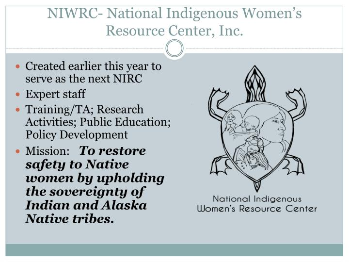 Niwrc national indigenous women s resource center inc