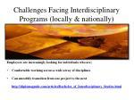 challenges facing interdisciplinary programs locally nationally3