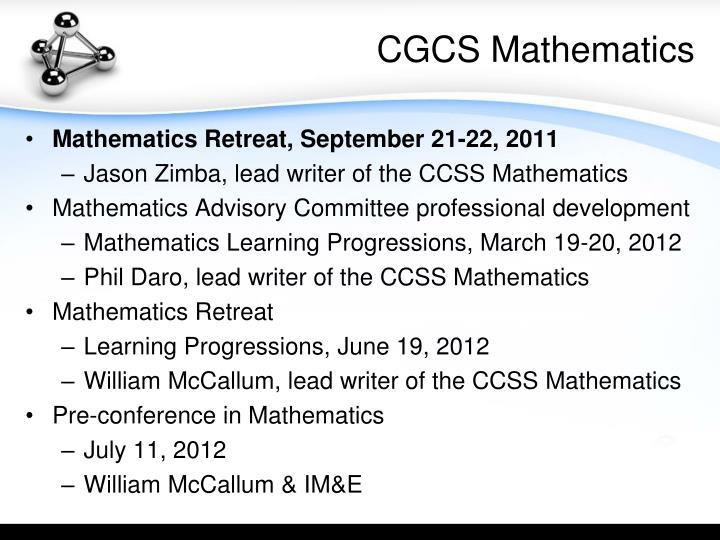 Cgcs mathematics
