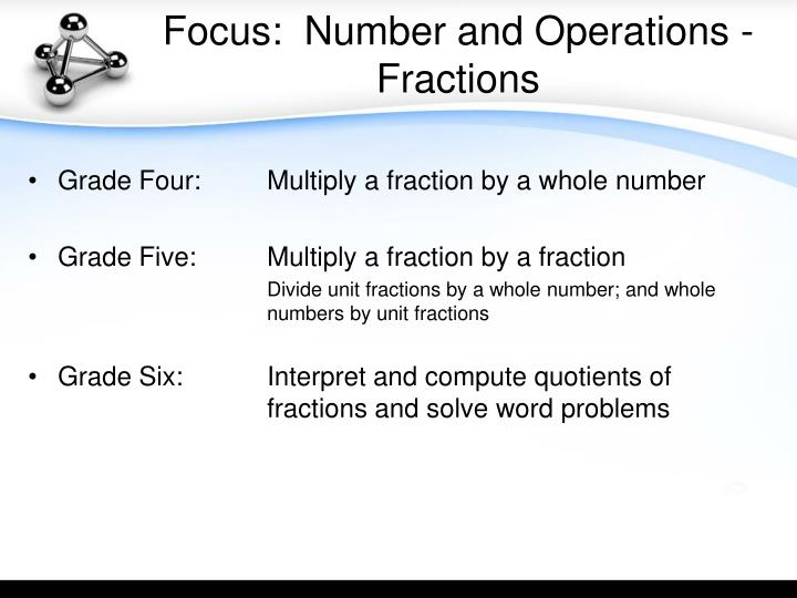 Focus:  Number and Operations - Fractions