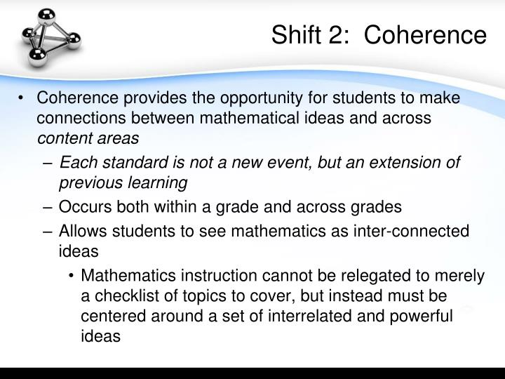 Shift 2:  Coherence