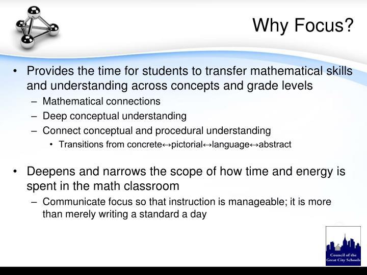Why Focus?