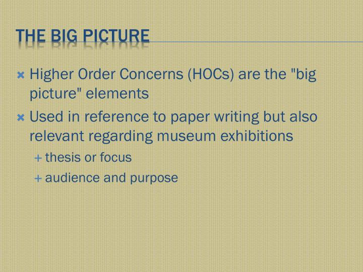 Higher Order Concerns (