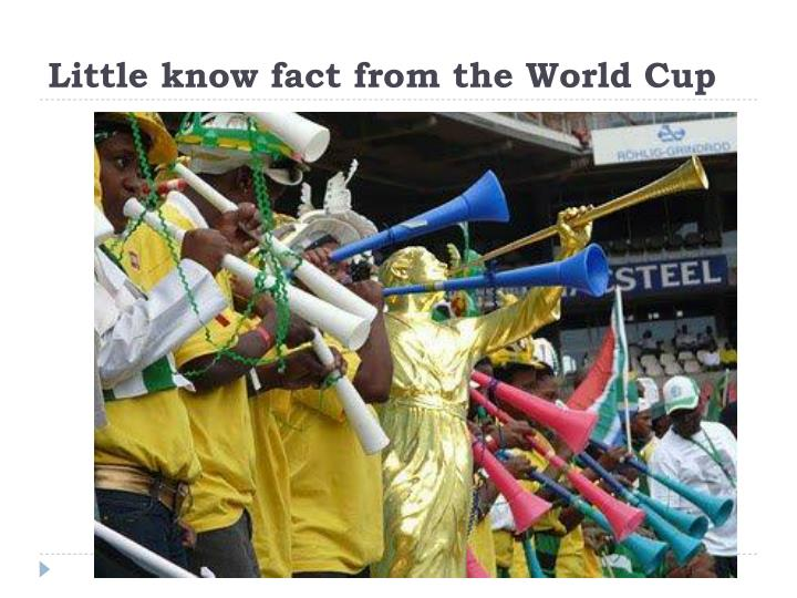 Little know fact from the world cup