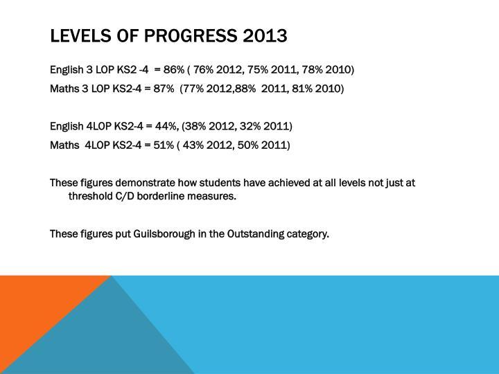 Levels of Progress 2013
