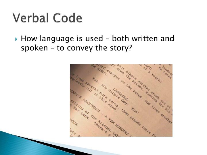 Verbal code