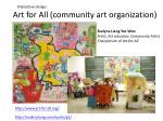 art for all community art organization