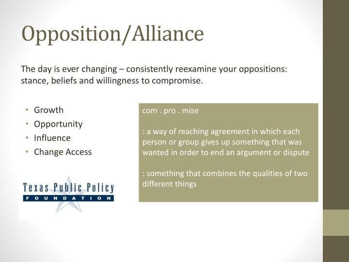 Opposition/Alliance