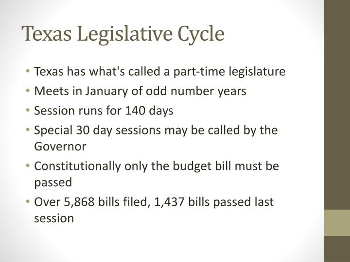 Texas Legislative Cycle