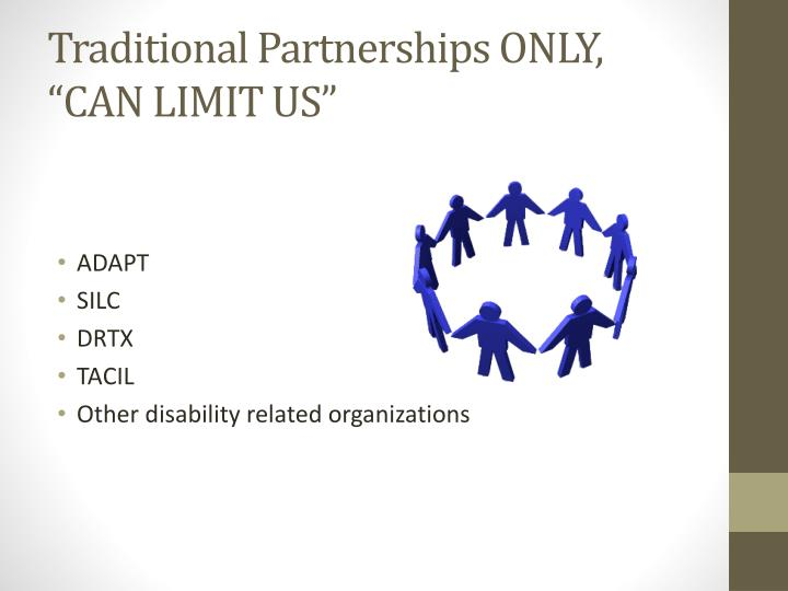 Traditional Partnerships