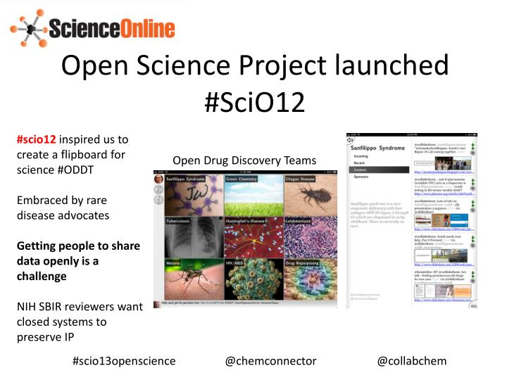 Open Science Project launched #SciO12