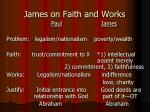 james on faith and works