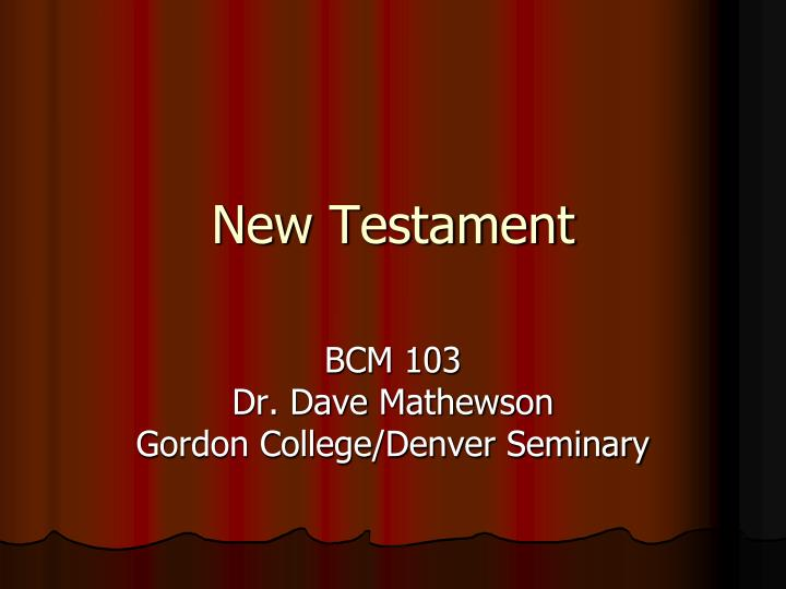 new testament n.