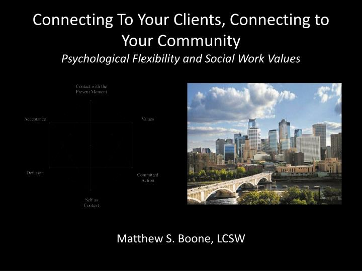 Connecting To Your Clients, Connecting to Your